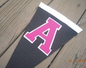 Small Wool Felt Pennant - Pick a Letter