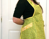springy thingy vintage repro full apron