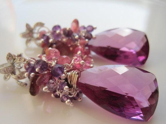 RESERVED for Cassandra - Provence Lavender Earrings