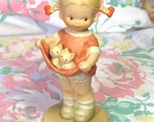 Girl with Kittens Porcelain Figurine Mabel Lucie Attwell