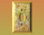 Mosaic Switch Plate Autumn Golds