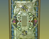 Flowers and Scroll Design Switch Plate