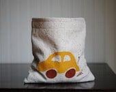 CLEARANCE Reusable Sandwich or Snack Bag Little Car