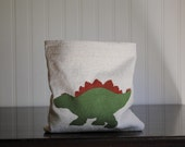CLEARANCE Reusable Sandwich or Snack Bag Stegosaurus