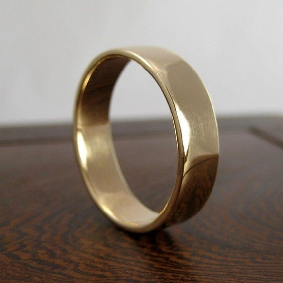 14K Yellow Gold 5mm Big Men's Wedding Band or Ring, Any Texture, size ...