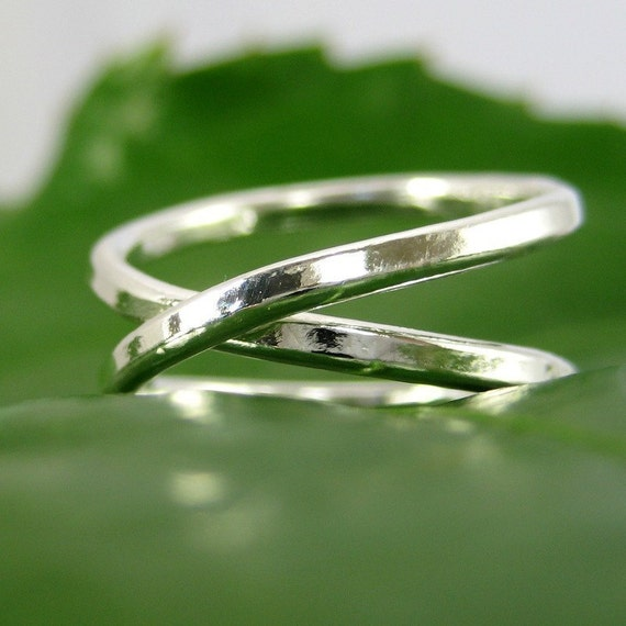 Silver Infinity Ring, Fine Silver Eternity Ring, Sea Babe Jewelry