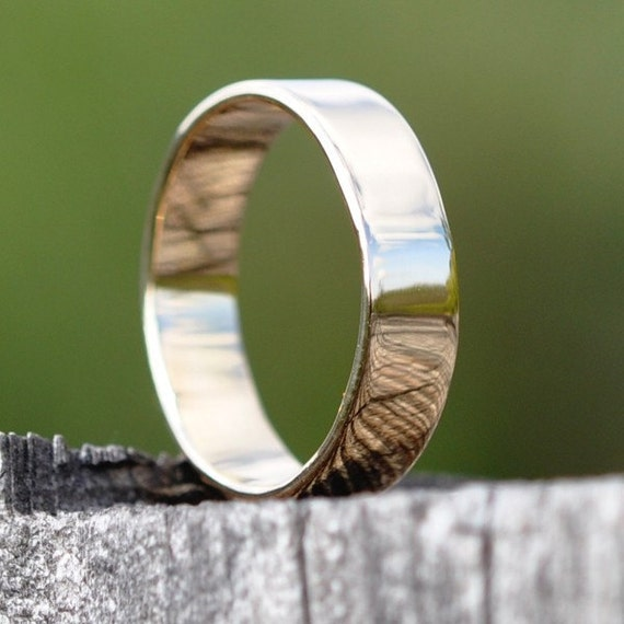 18K Yellow Gold Hand Forged 6mm Wedding Band or Ring, size 8.25 through 10, any size available, Sea Babe Jewelry