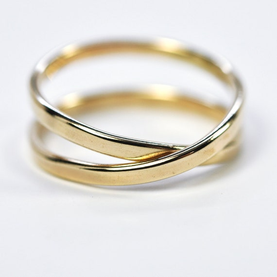 Solid Gold Infinity Ring, 14K Yellow Gold, 2mm, Eternity Ring, Symbolic, Love, Sea Babe Jewelry
