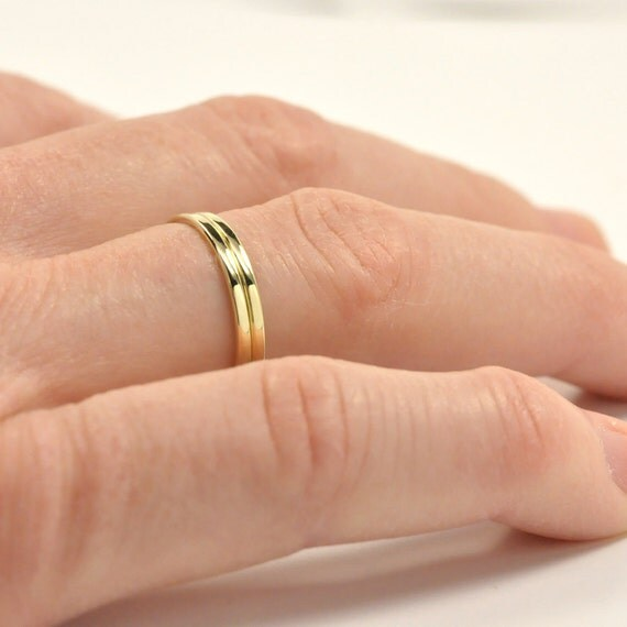 14K Yellow Gold Wedding Band Enhancer Guard Set for Handmade Engagement Rings, sizes 3-6 this listing, Sea Babe Jewelry