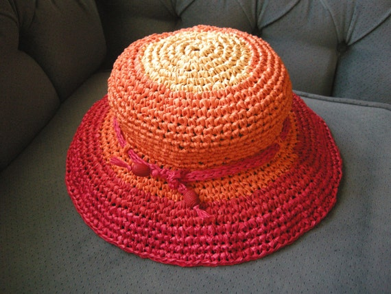 Sunburst - Adjustable Crochet Straw Sun Hat
