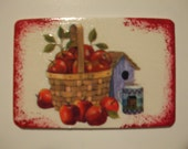 Apples And Birdhouse Magnet