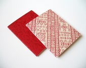 Set of 2 jotters in red color