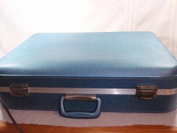 RESERVED for Jocelyn  Vintage Blue Luggage large and Medium cases 1960's