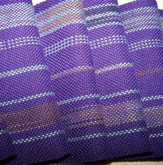 Handwoven Bamboo Scarf - Hand Woven Scarf - Purple Ikat Scarf