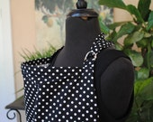 Nursing Cover - Michael Miller Dumb Dot Fabric in Black and White