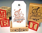 Hand Carved Stamp, Jack-in-the-box