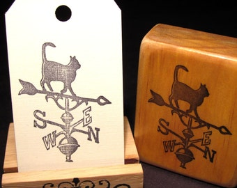 Cat Weathervane, Hand Carved Stamps