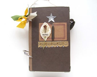 Handmade/ Vintage Inspired/ Personalized Mini Journal