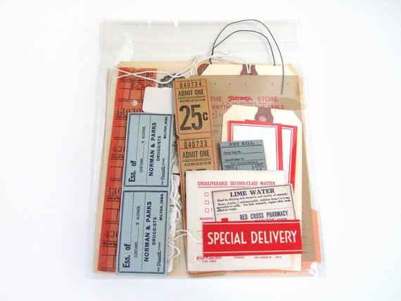 Vintage Tickets & Labels Pack/30