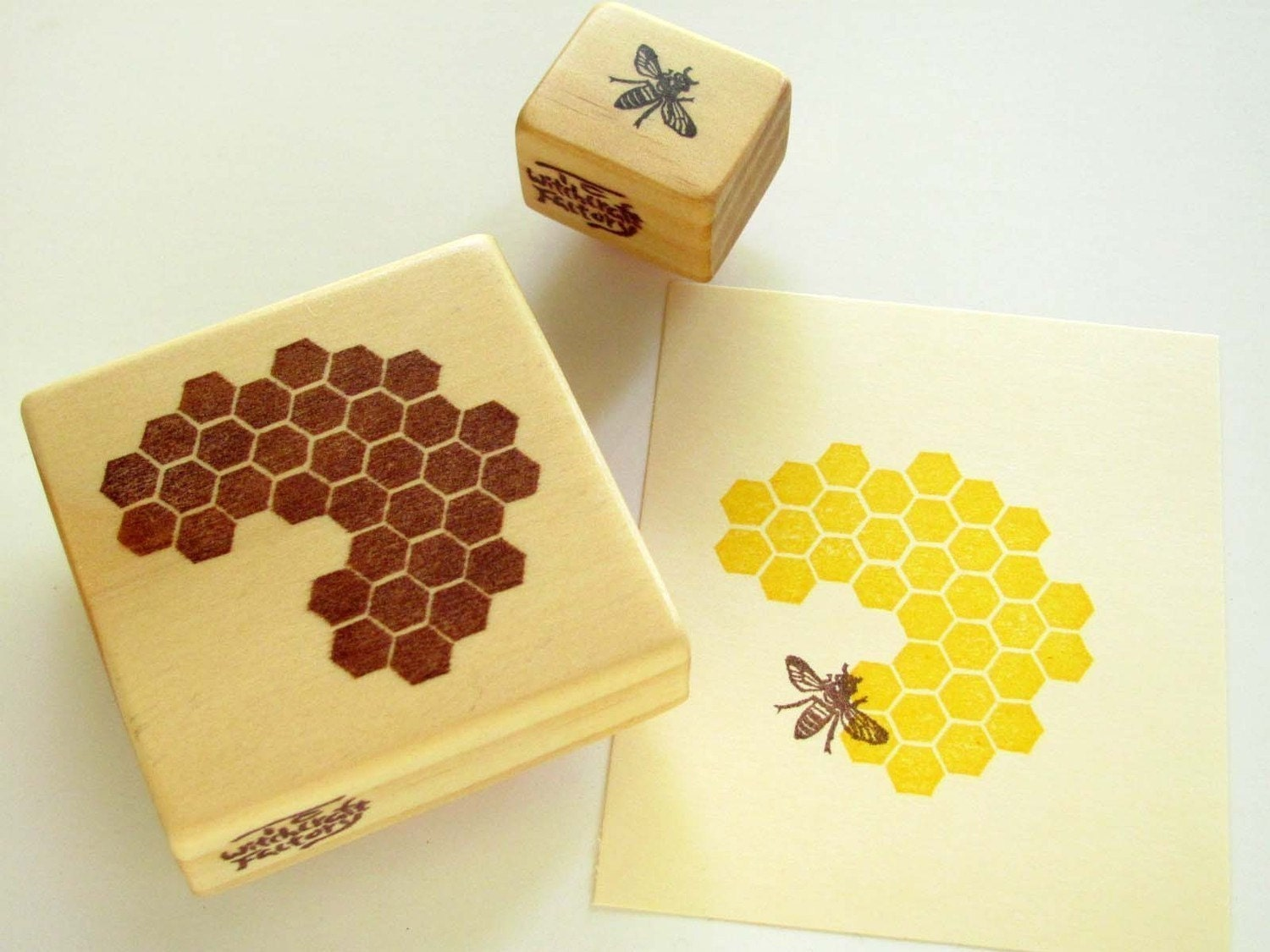 Hand Carved Rubber Stamp, Honeycomb and Honeybee set of 2 ... - photo#13