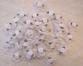 12 pc Shabby Chic Reborn Baby Doll boutique white satin organza rose ribbon flowers christening