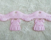 SALE 2 yds Pink satin its a girl dress baby shower announcement  invitation scrapbooking card trim
