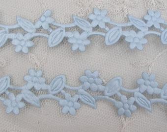 3 yds Blue Flower Trim on a Vine Scrapbooking Card Making Bridal