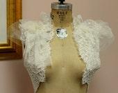 Ready to Ship -Vintage Lace Bolero - Size Medium