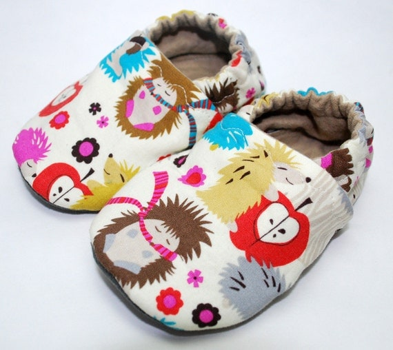 Funky Hedgies Cloth Baby Shoes