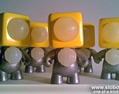 Small Robot Art Sculpture by Mike Slobot - Edition of 5 Yellow