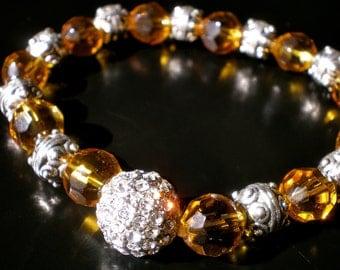 AMBER CRYSTAL Stretch Bracelet