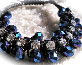 MIDNIGHT BLUE  Adjustable Bracelet