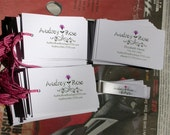 Custom order for Audrey Rose for 200 Merchandise tags with strings and 100 business cards