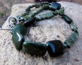 Glorious Green Jasper necklace & earrings set