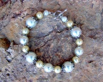 Ivory & White pearl bracelet