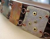 Croque-Monsieur - sterling silver and copper bracelet