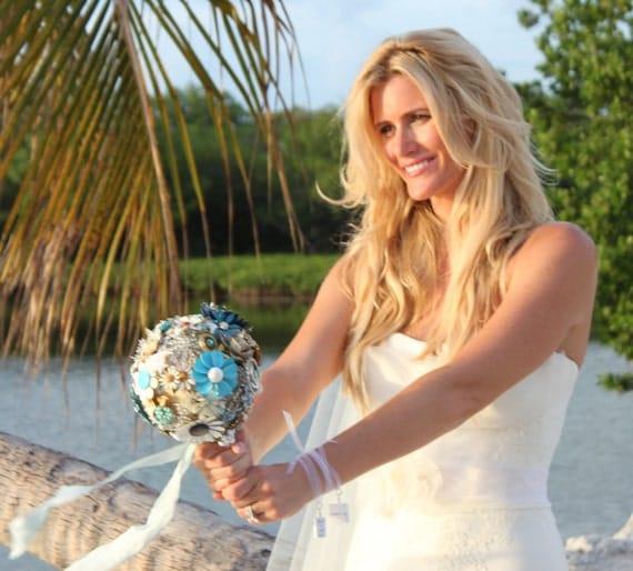 Bridal Bouquet Charms - 2 Medium Custom Bouquet Jewelry Charms - BC2x2
