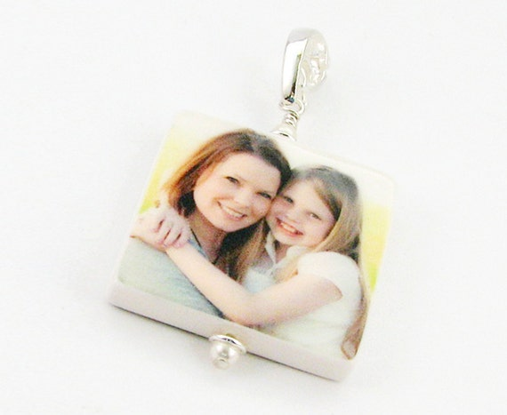 A Mothers Day Jewelry Favorite - Custom Photo Pendant - Medium - P2