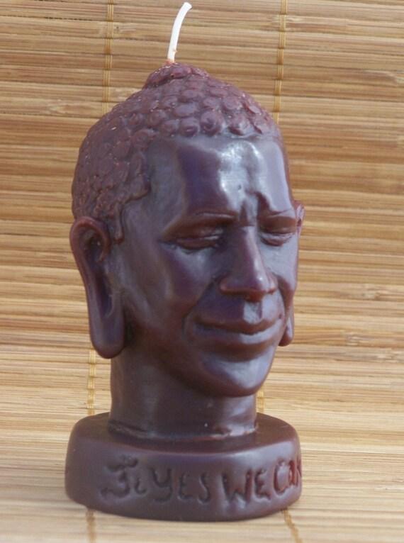 Barack O'Buddha Candle by David Chalat