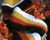 Candy Corn Hat and Scarf Set