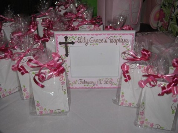 personalized picture frame party favors christening communion birthday