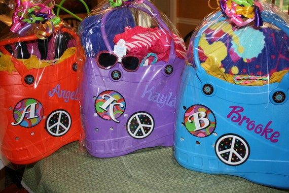 personalized crocs like tote pool bag...  what a great gift