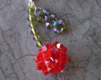 SALE- The BING Swarovski CHERRY Necklace