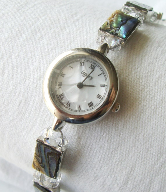 SALE Abalone Beaded Watch