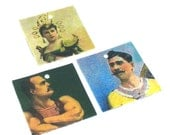 Carnival WOMAN and MUSCLE Men  charms 3pc strong man