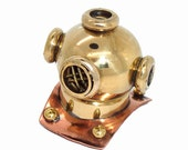 2pc Divers Helmet pendant CHARM, brass - 2nd quality - sold 'as is' ... steampunk