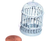 Birdcage pendant 1pc silver sparkle ... shop closing sale - jewelry and beading supplies