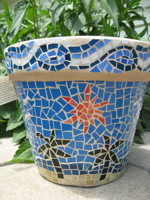 Mosaic Beach Planter