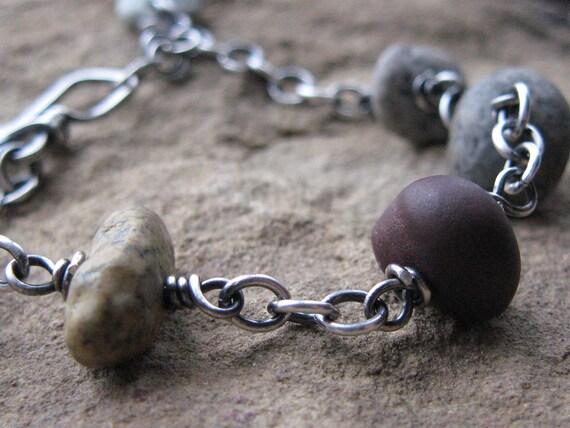 Multi-color Beach Stone Bracelet