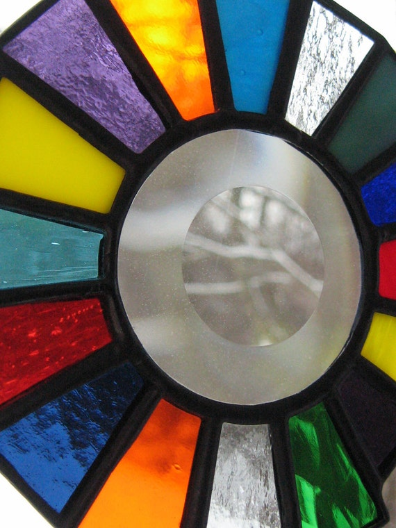 Multi-color Stained Glass Suncatcher / Mobile